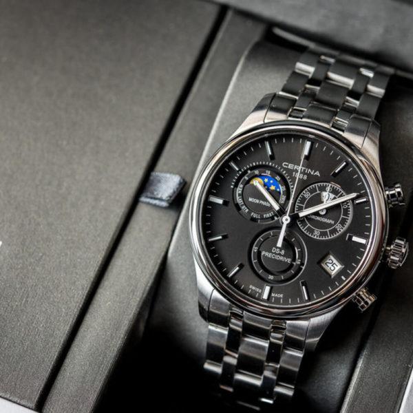 Мужские наручные часы CERTINA Urban DS-8 Chronograph Moon Phase C033.450.11.051.00 - Фото № 8