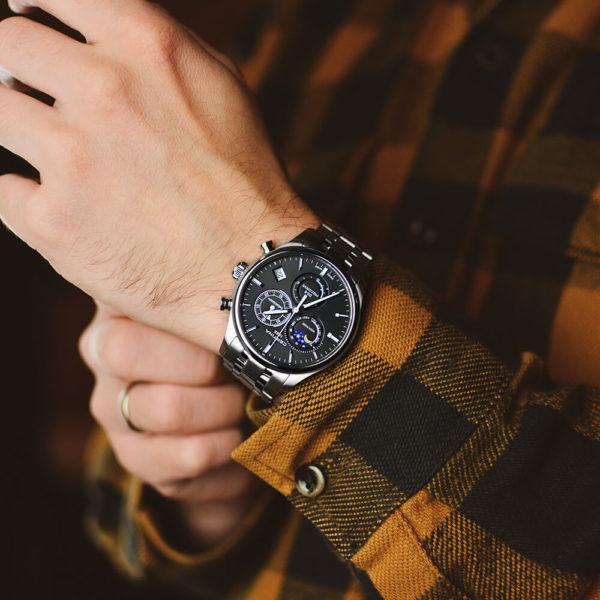 Мужские наручные часы CERTINA Urban DS-8 Chronograph Moon Phase C033.450.11.051.00 - Фото № 7