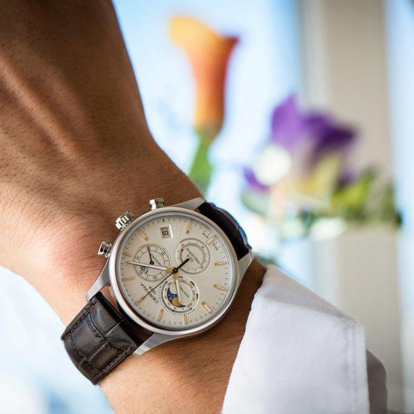Мужские наручные часы CERTINA Urban DS-8 Chronograph Moon Phase C033.450.16.031.00 - Фото № 7