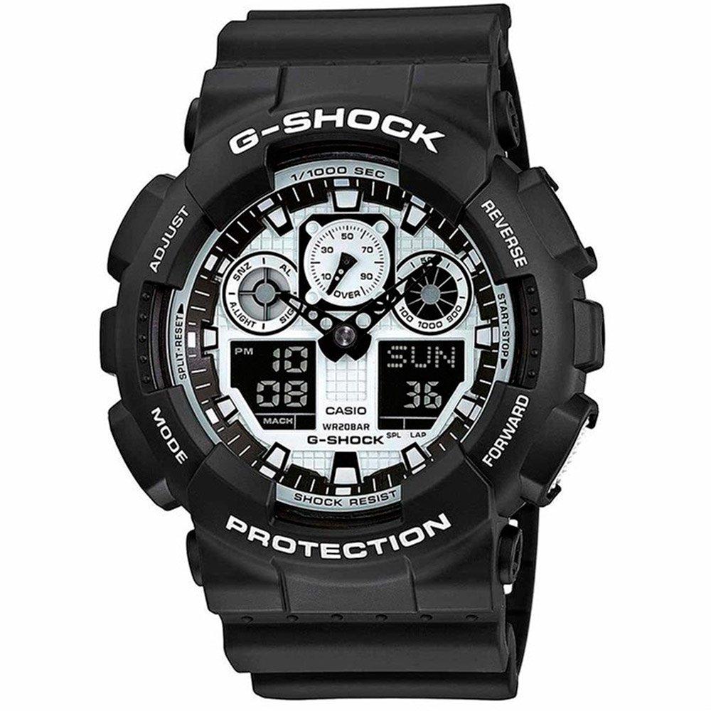 Часы Casio ga-100bw-1aer