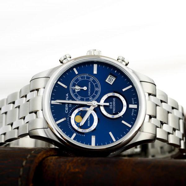 Мужские наручные часы CERTINA Urban DS-8 Chronograph Moon Phase C033.450.11.041.00 - Фото № 7