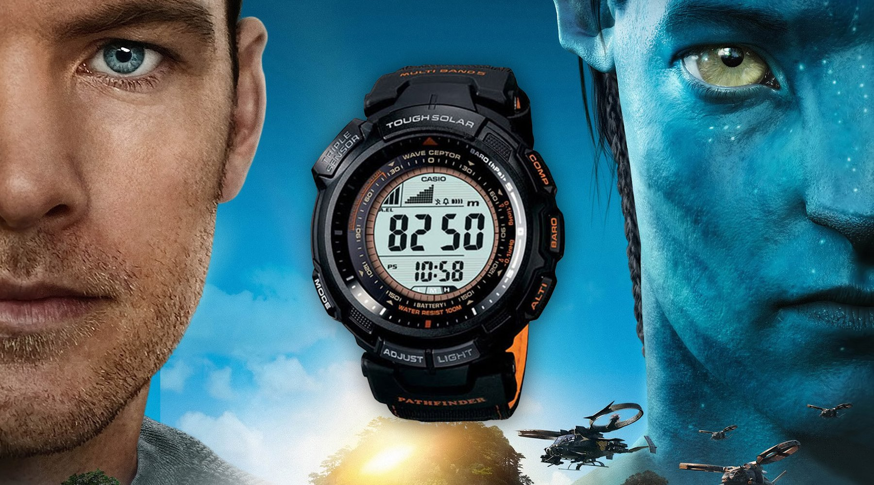 Casio PAW-1300G-1V in movie