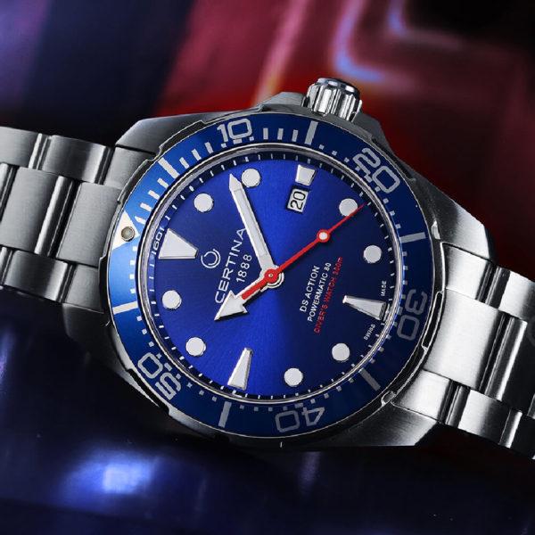 Мужские наручные часы CERTINA Aqua DS Action Diver Powermatic 80 C032.407.11.041.00 - Фото № 7