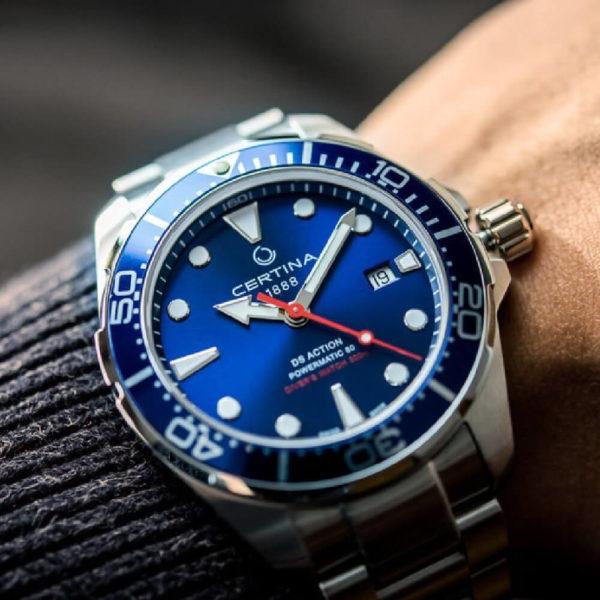 Мужские наручные часы CERTINA Aqua DS Action Diver Powermatic 80 C032.407.11.041.00 - Фото № 9