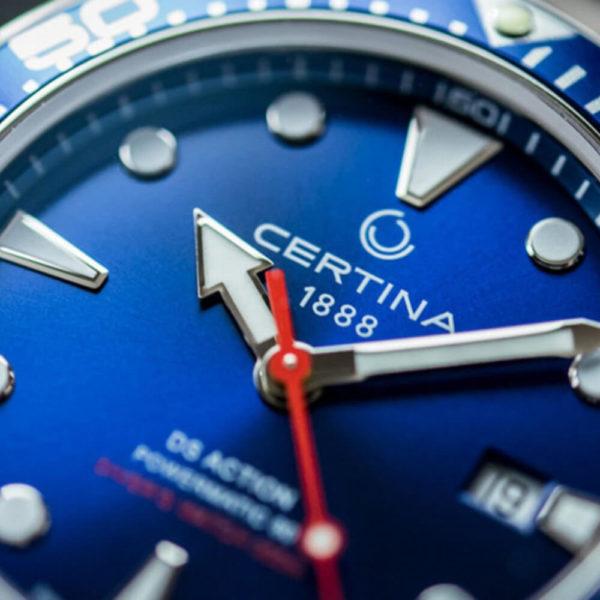 Мужские наручные часы CERTINA Aqua DS Action Diver Powermatic 80 C032.407.11.041.00 - Фото № 8