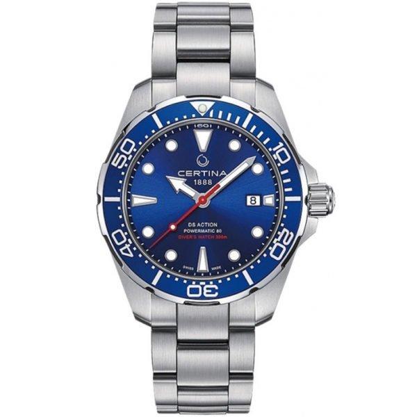 Мужские наручные часы CERTINA Aqua DS Action Diver Powermatic 80 C032.407.11.041.00 - Фото № 5