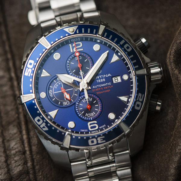 Мужские наручные часы CERTINA Aqua DS Action Diver Chronograph Automatic C032.427.11.041.00 - Фото № 9