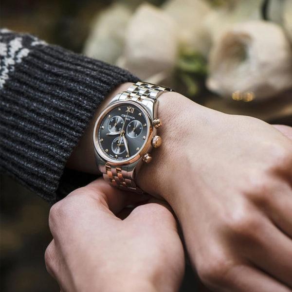Женские наручные часы CERTINA Urban DS-8 Lady Chronograph C033.234.22.088.00 - Фото № 7