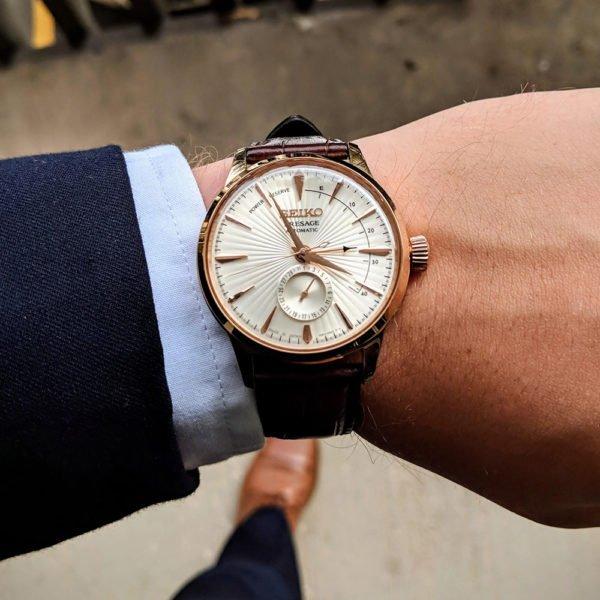 Мужские наручные часы SEIKO Presage Cocktail Time Sidecar SSA346J1 - Фото № 10
