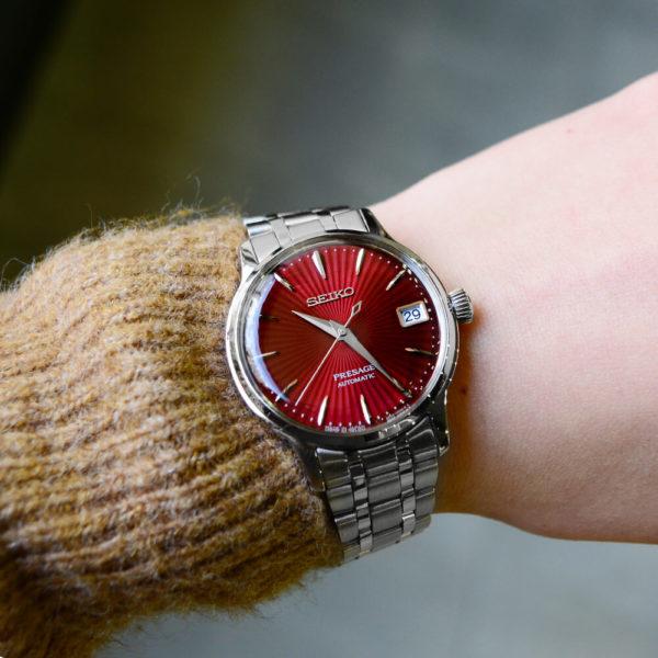 Женские наручные часы SEIKO Presage Cocktail Time Kir Royal SRP853J1 - Фото № 12