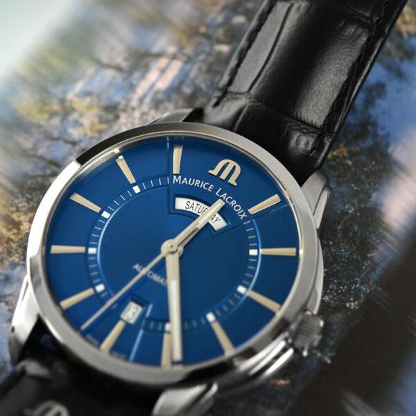 Мужские наручные часы MAURICE LACROIX Pontos PT6358-SS001-430-1 - Фото № 11