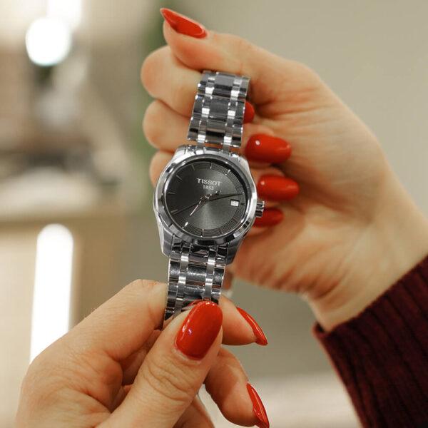 Женские наручные часы TISSOT Couturier T035.210.11.051.01 - Фото № 9