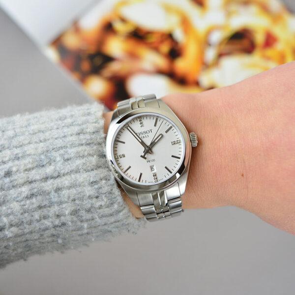 Женские наручные часы TISSOT PR 100 T101.210.11.036.00 - Фото № 12