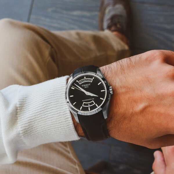 Мужские наручные часы TISSOT COUTURIER POWERMATIC 80 T035.407.16.051.02 - Фото № 11