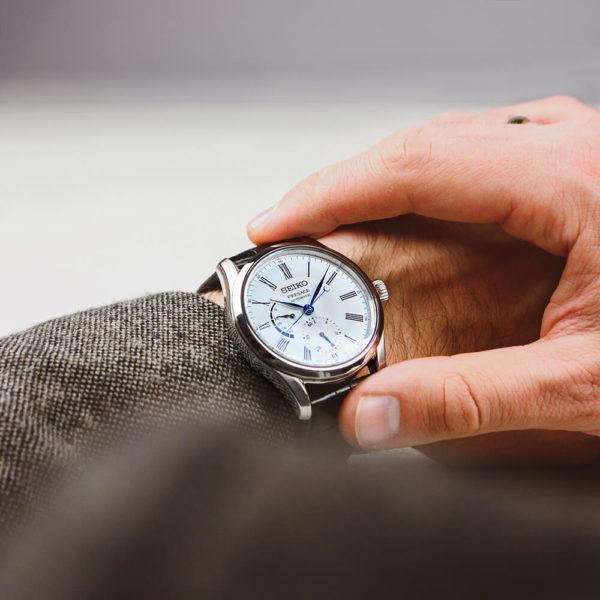 Мужские наручные часы SEIKO Presage Enamel Dial SPB045J1 - Фото № 14