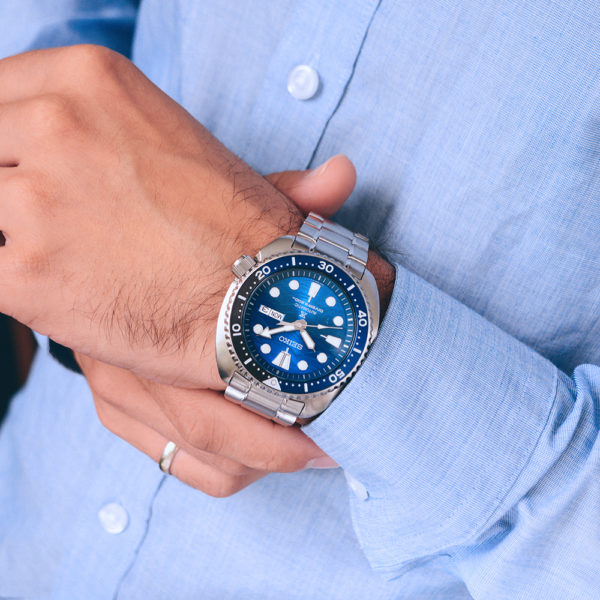 Мужские наручные часы SEIKO Prospex Turtle Save the Ocean Great White Shark SRPD21K1 - Фото № 13