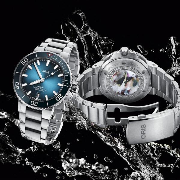 Мужские наручные часы ORIS AQUIS Clean Ocean Limited Edition 01 733 7732 4185-Set - Фото № 8