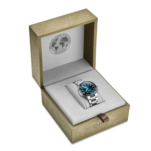 Мужские наручные часы ORIS AQUIS Clean Ocean Limited Edition 01 733 7732 4185-Set - Фото № 11
