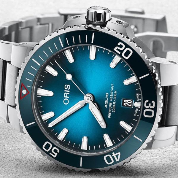 Мужские наручные часы ORIS AQUIS Clean Ocean Limited Edition 01 733 7732 4185-Set - Фото № 9