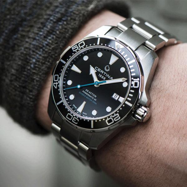 Мужские наручные часы CERTINA Aqua DS Action Diver Powermatic 80 Sea Turtle Conservancy Special Edition C032.407.11.051.10 - Фото № 10