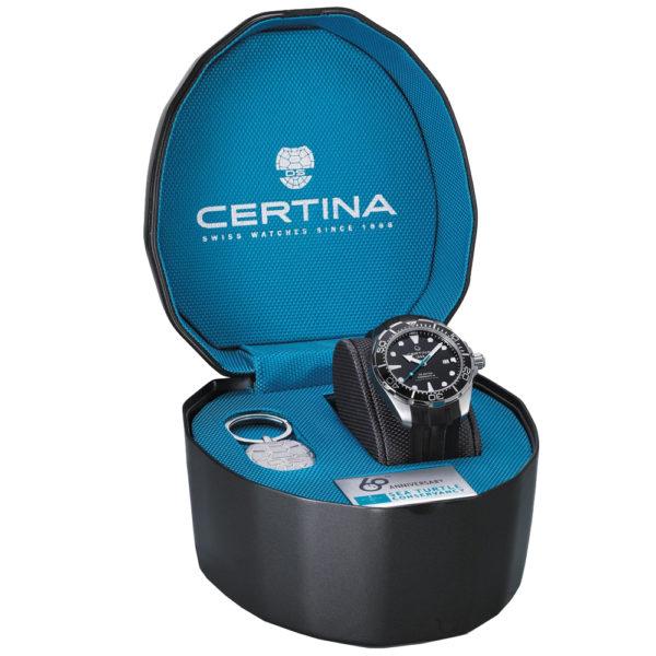 Мужские наручные часы CERTINA Aqua DS Action Diver Powermatic 80 Sea Turtle Conservancy Special Edition C032.407.17.051.60 - Фото № 13