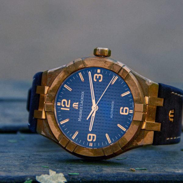 Мужские наручные часы MAURICE LACROIX Aikon Automatic Bronze Limited Edition AI6008-BRZ01-420-1 - Фото № 13