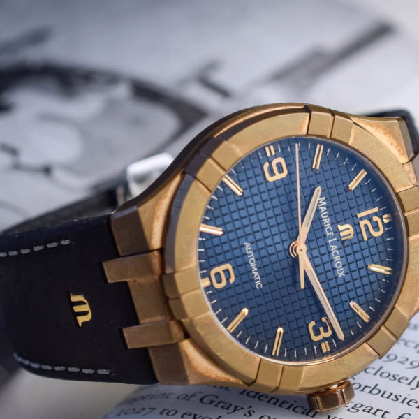 Мужские наручные часы MAURICE LACROIX Aikon Automatic Bronze Limited Edition AI6008-BRZ01-420-1 - Фото № 12