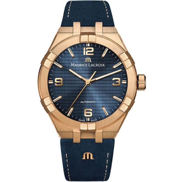 Мужские наручные часы MAURICE LACROIX Aikon Automatic Bronze Limited Edition AI6008-BRZ01-420-1 - Фото № 8