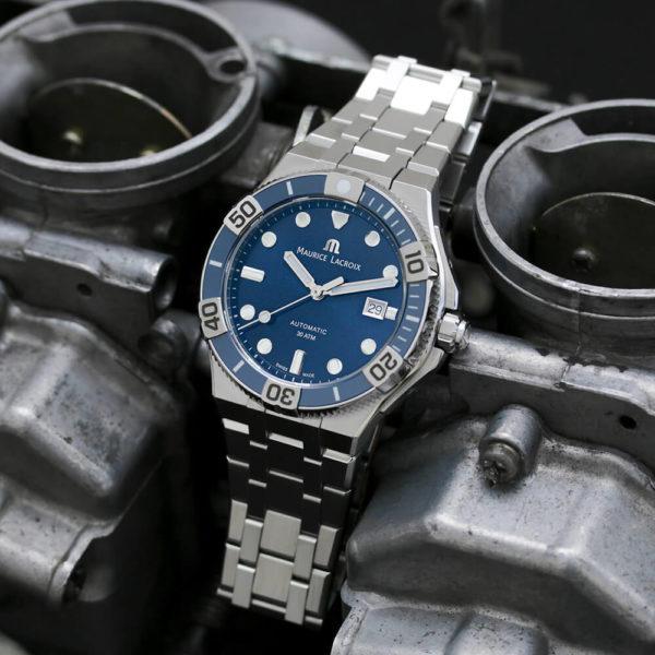 Мужские наручные часы MAURICE LACROIX Aikon Venturer AI6058-SS002-430-2 - Фото № 6