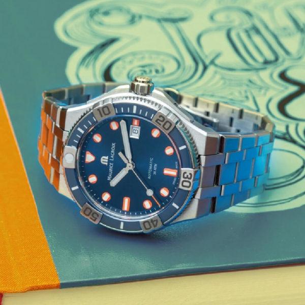 Мужские наручные часы MAURICE LACROIX Aikon Venturer Limited Edition AI6058-SS002-431-1 - Фото № 9