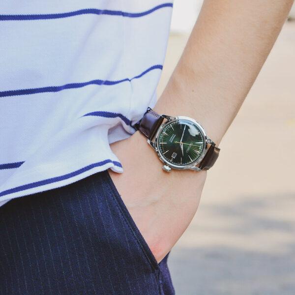 Мужские наручные часы SEIKO Presage Cocktail Time Mockingbird SRPD37J1 - Фото № 11