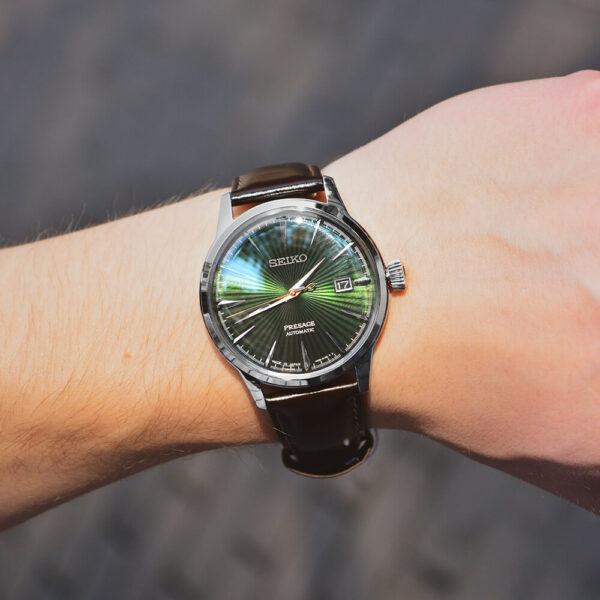 Мужские наручные часы SEIKO Presage Cocktail Time Mockingbird SRPD37J1 - Фото № 9