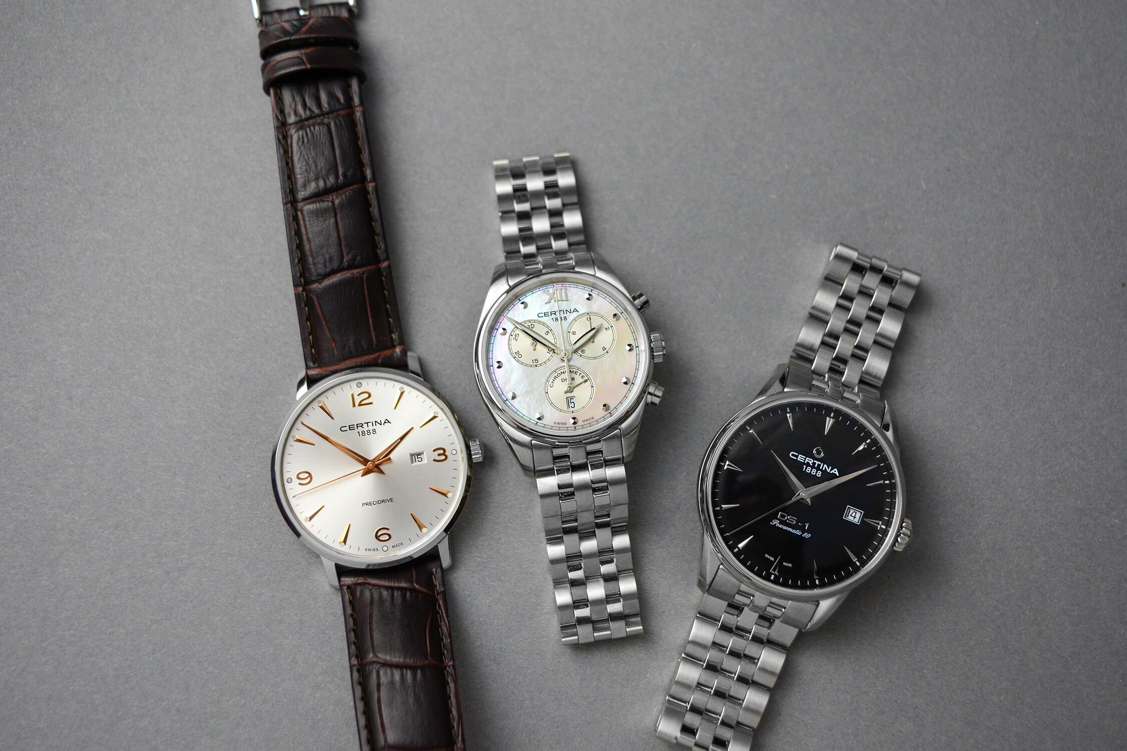 часы сертина из коллекции aqua