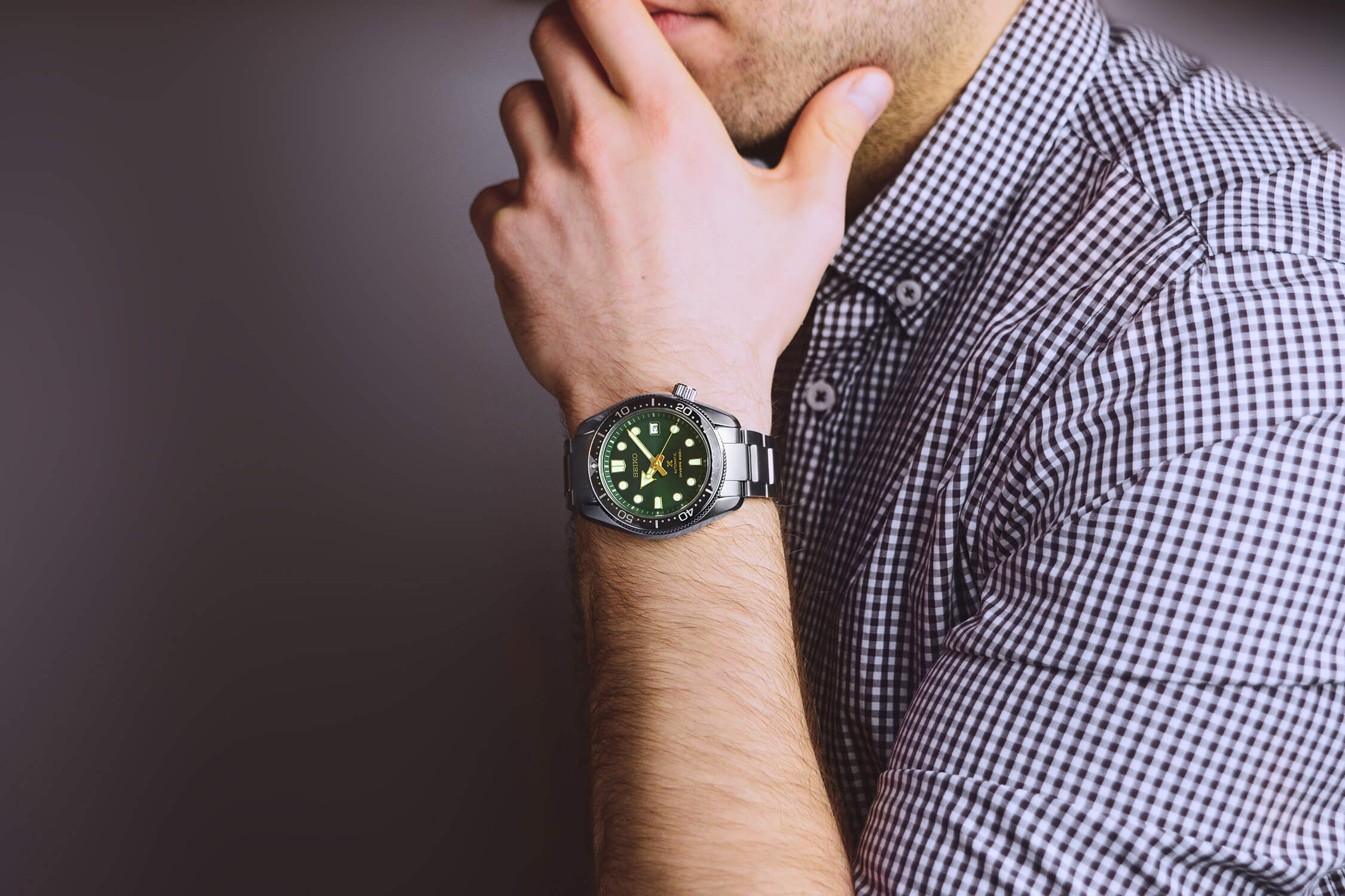 seiko prospex green sunset