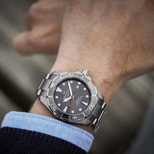 Мужские наручные часы CERTINA Aqua DS Action Diver Powermatic 80 C032.407.44.081.00 - Фото № 7