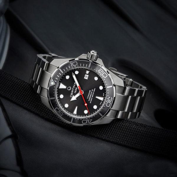 Мужские наручные часы CERTINA Aqua DS Action Diver Powermatic 80 C032.407.44.081.00 - Фото № 8