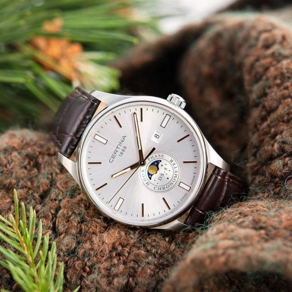 Мужские наручные часы CERTINA Urban DS-8 Moon Phase C033.457.16.031.00 - Фото № 7