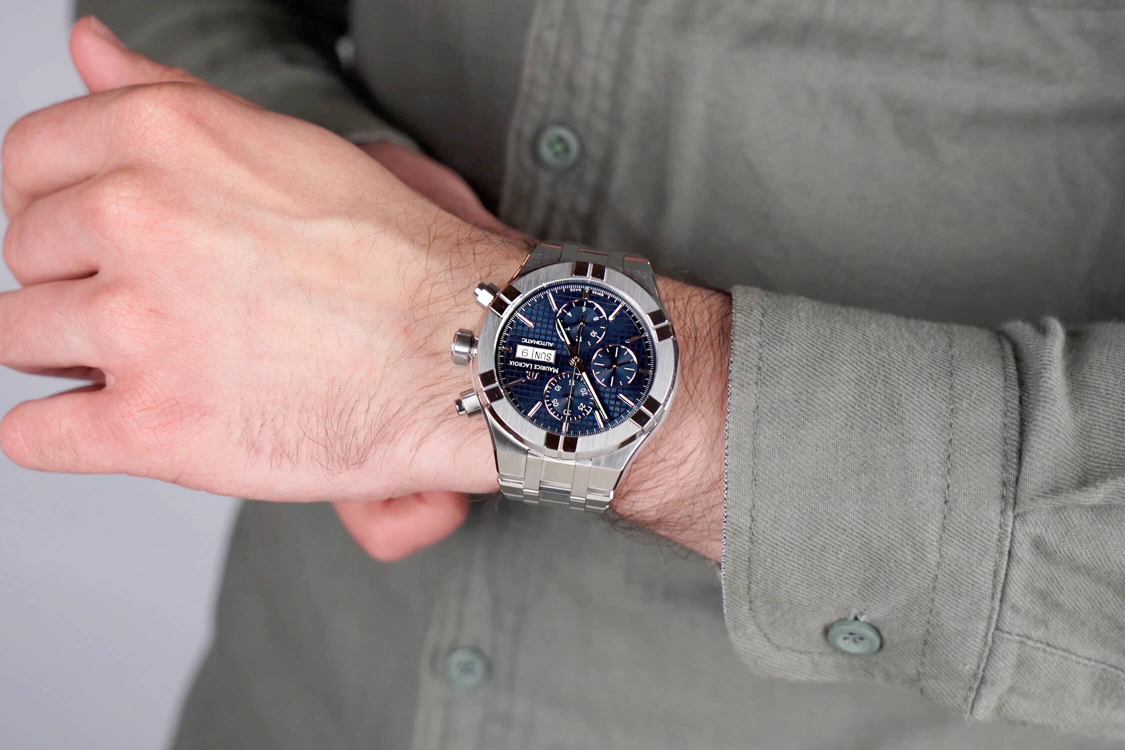 maurice lacroix chronograph AI6038-SS002-430