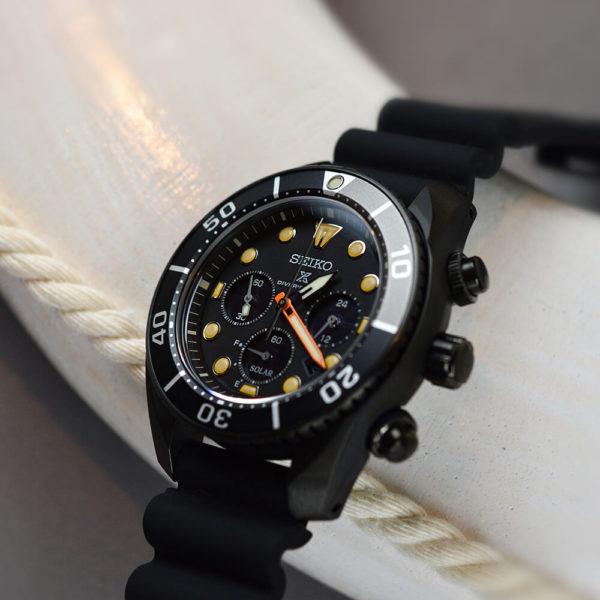 Мужские наручные часы SEIKO Prospex Sumo The Black Series Limited Edition SSC761J1 - Фото № 10
