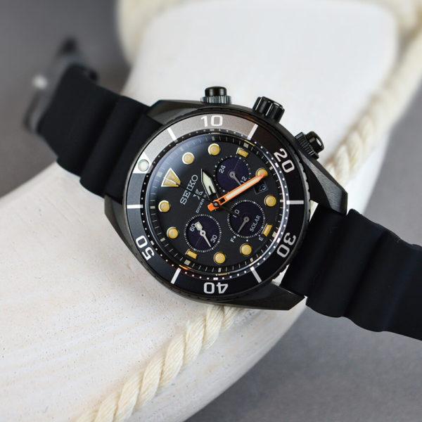 Мужские наручные часы SEIKO Prospex Sumo The Black Series Limited Edition SSC761J1 - Фото № 9
