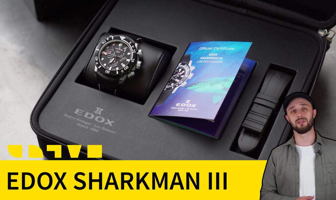 EDOX CO-1 SHARKMAN III Limited Edition 10241 TIB NIN