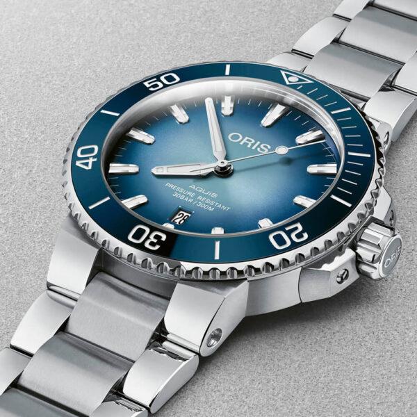 Мужские наручные часы ORIS AQUIS Lake Baikal Limited Edition 01 733 7730 4175-Set - Фото № 9