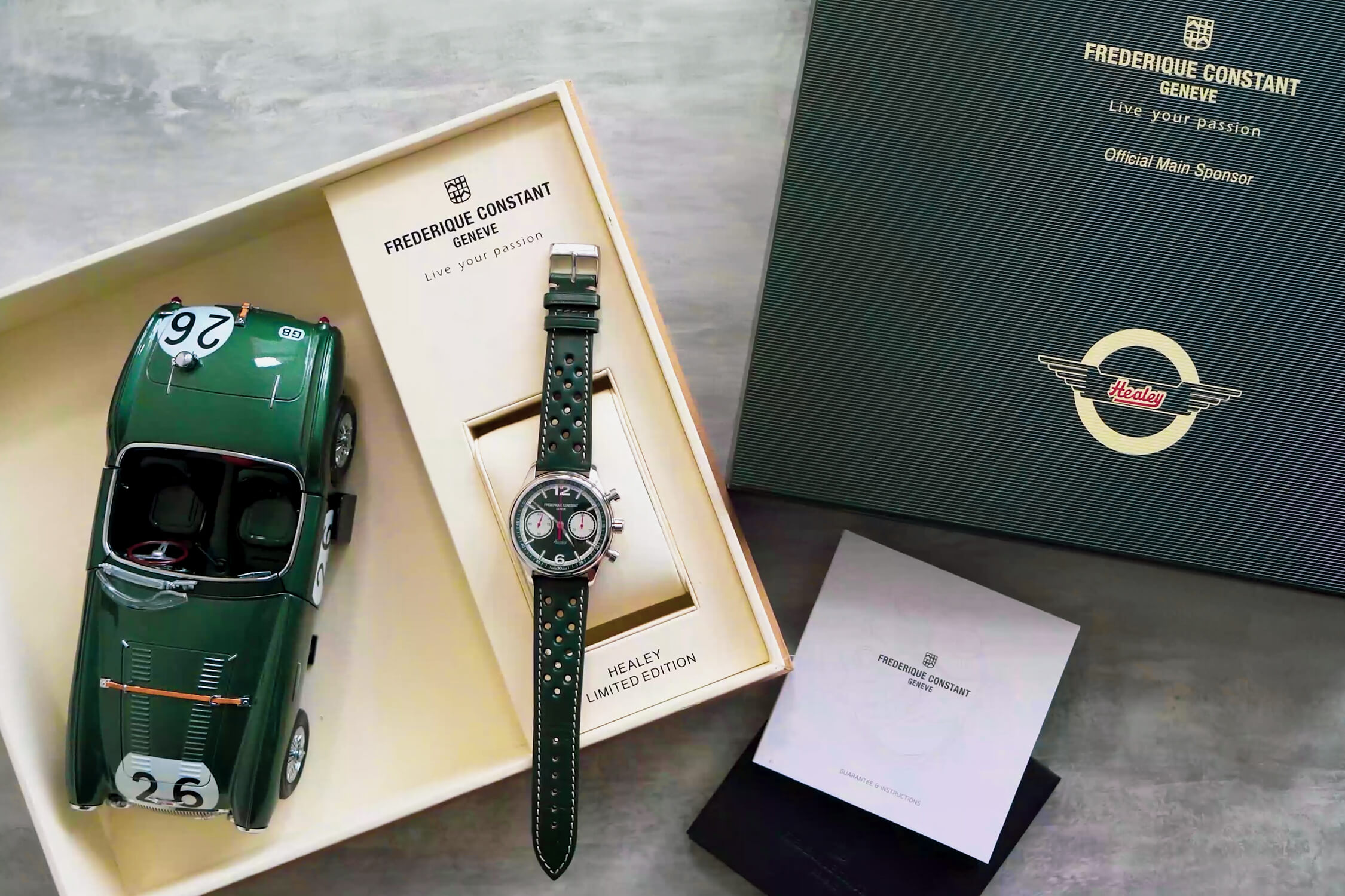 frederique constant vintage rally healey chronograph automatic FC-397HGR5B6
