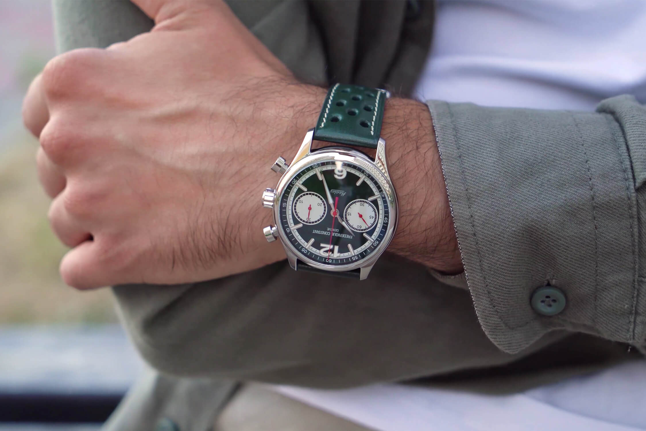 frederique constant vintage rally healey chronograph automatic FC