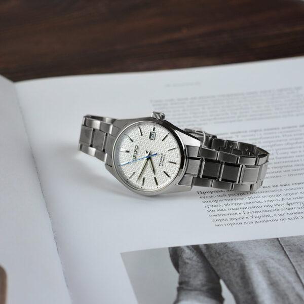 Мужские наручные часы SEIKO Presage Sharp Edged Shironeri SPB165J1 - Фото № 13