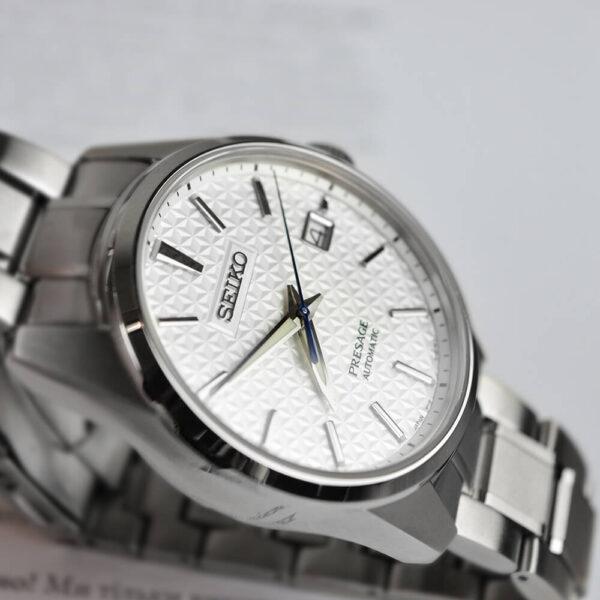 Мужские наручные часы SEIKO Presage Sharp Edged Shironeri SPB165J1 - Фото № 11
