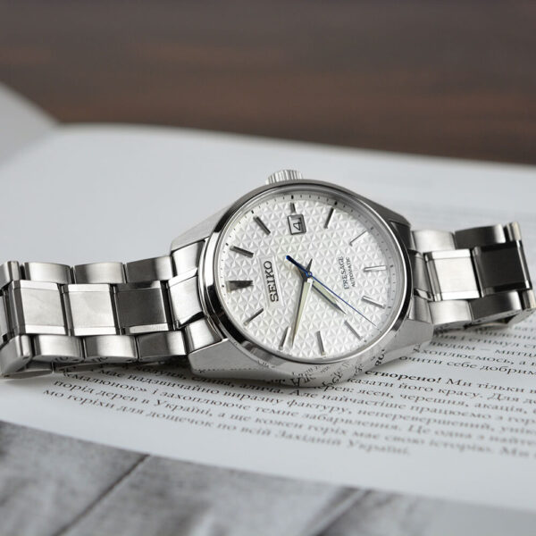 Мужские наручные часы SEIKO Presage Sharp Edged Shironeri SPB165J1 - Фото № 10