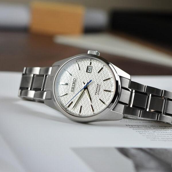 Мужские наручные часы SEIKO Presage Sharp Edged Shironeri SPB165J1 - Фото № 9