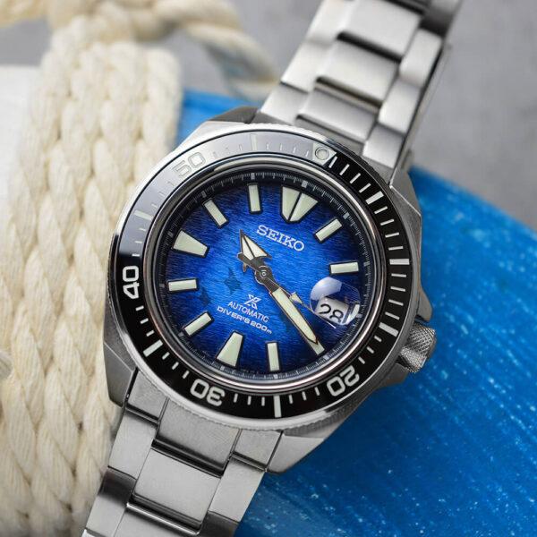 Мужские наручные часы SEIKO Prospex King Samurai Save the Ocean Manta Ray SRPE33K1 - Фото № 13