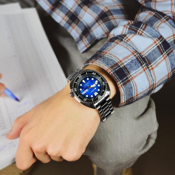 Мужские наручные часы SEIKO Prospex King Turtle Save the Ocean Manta Ray SRPE39K1 - Фото № 8
